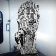 Chrome Plated Lion