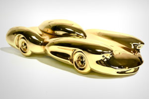 Gold Chrome Car