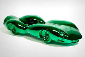 Green Chrome Car