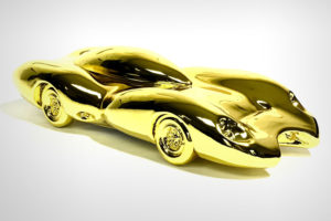 Yellow Chrome Car