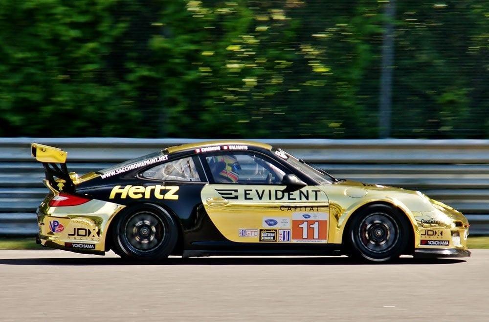 Chrome race car