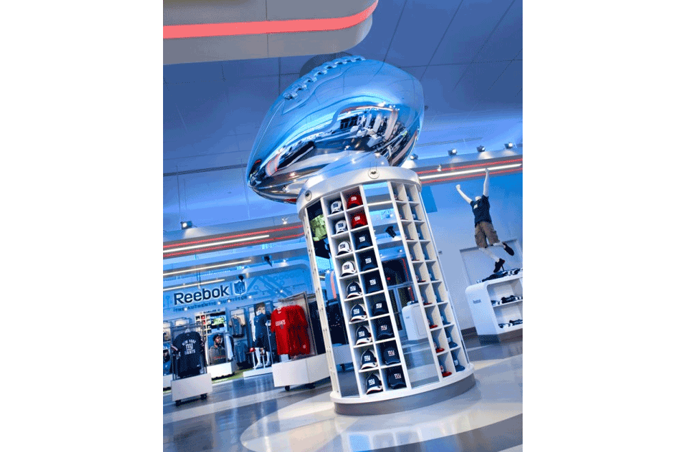 Giant Chrome Football Statue