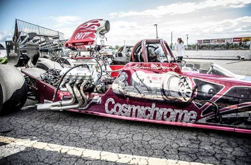 Red Chrome 007 Dragster