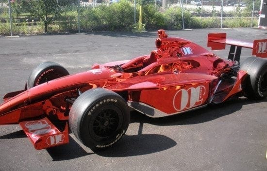 Red Chrome Indy 500 Car
