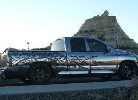 Chrome Truck Outside