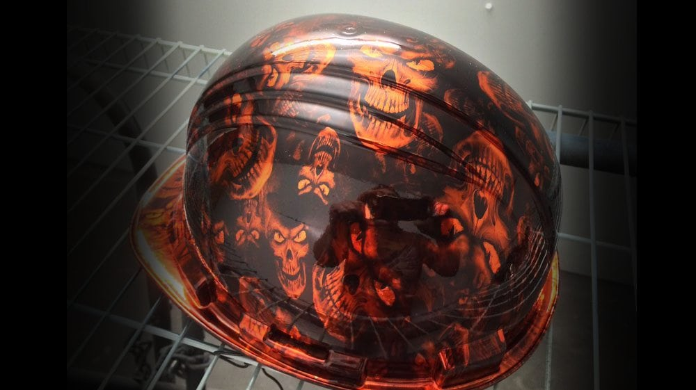 Chromed Hydrographics Helmet