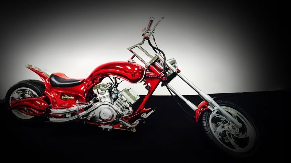 Red Chrome Mini Chopper