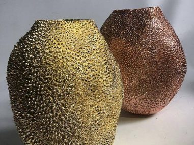 Gold and copper chrome jackfruit