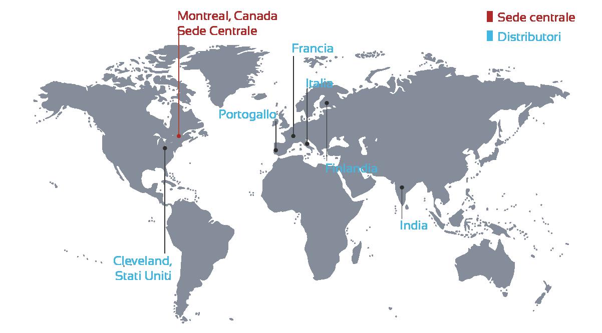 Mappa dei distributori italiani
