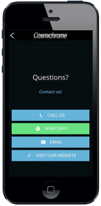 App contact screen